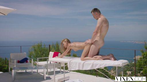 Изображение Массаж на открытом воздухе завершился классным сексом